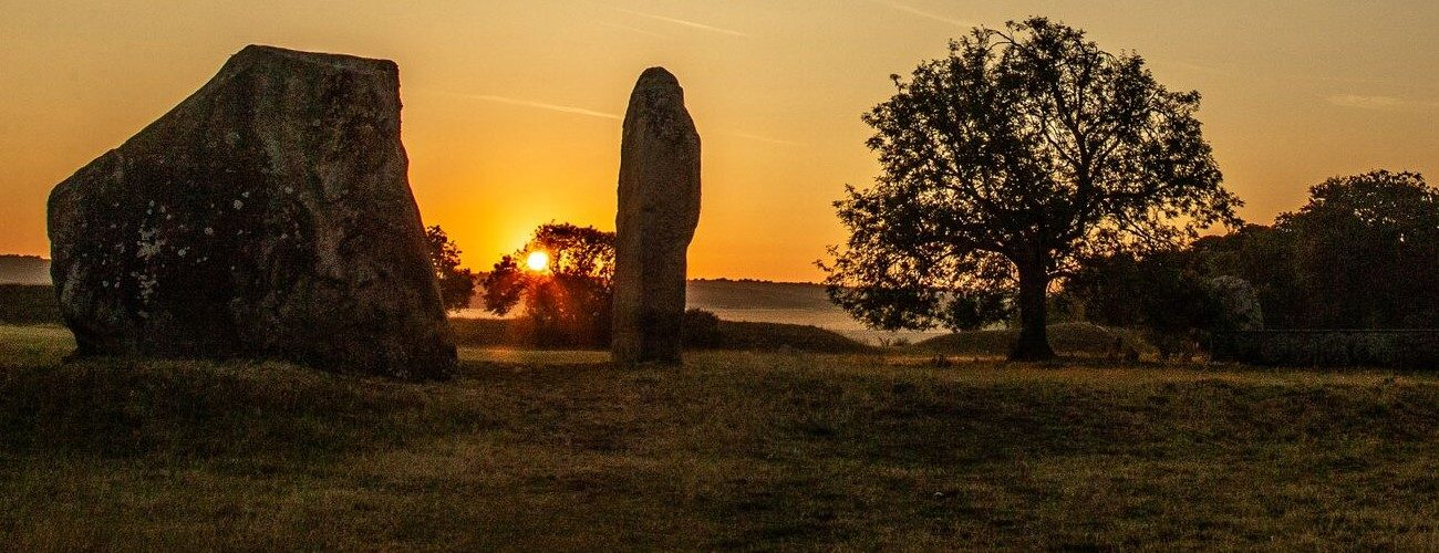 Avebury Stone Circle at sunrise