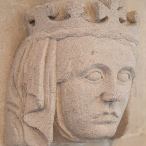 mediaeval face carving